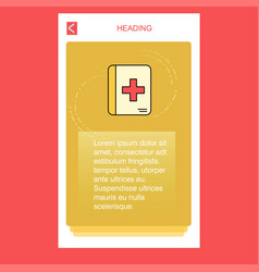 medical book mobile vertical banner design design vector image