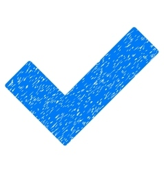 Ok tick grainy texture icon vector