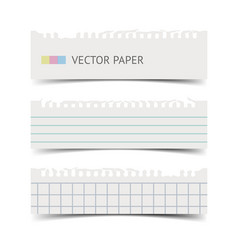 Old fashion notebook paper sheets banner vector