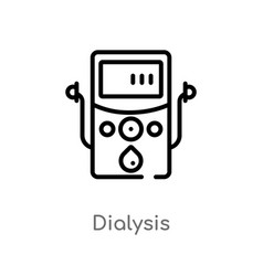 Outline dialysis icon isolated black simple line vector