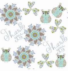 owl seamless pattern it is located in swatch menu vector image