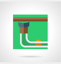 Pool table pocket flat square icon vector