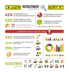 Recruitment Infographics Set vector