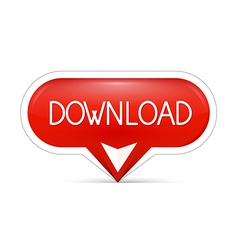 Red download web button vector