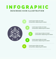Scale modification design 3d infographics vector