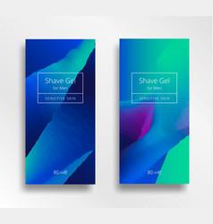 shaving gel design vector image