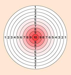 Shooting target paper shooting target vector