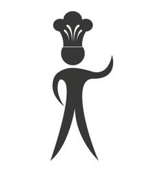 Silhouette chef uniform icon vector