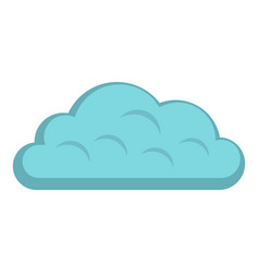 Snow cloud icon isolated vector