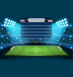 soccer football stadium spotlight vector image