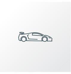 sport car icon line symbol premium quality vector image