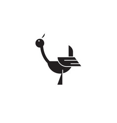 stork black concept icon stork flat vector image