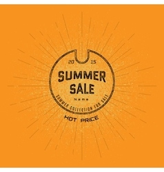 Summer sale badges logos and labels for any use vector image