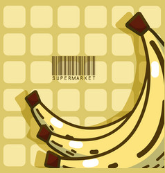 Sweet bananas super market products vector