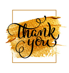 thank you day text on acrylic gold background vector image