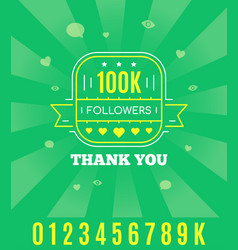 thank you followers vector image