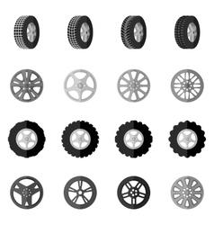 Tire icon black vector