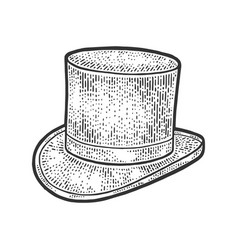Top hat cylinder sketch vector