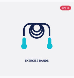 Two color exercise bands icon from gym and vector
