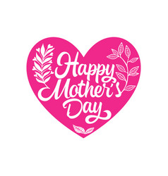 Typography and lettering for a happy mothers day vector