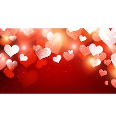 Valentine background with hearts vector image