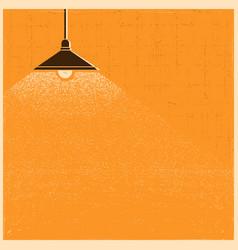 Vintage ceiling lamp lighting in the room vector