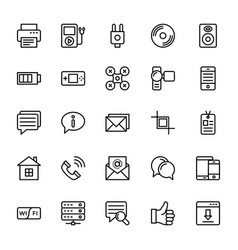 Web and mobile ui line icons 16 vector