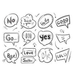 hand drawn comic speech bubbles with popular vector image vector image