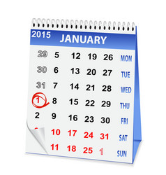icon calendar Christmas vector image vector image