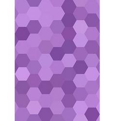 Purple abstract hexagonal honey comb background vector