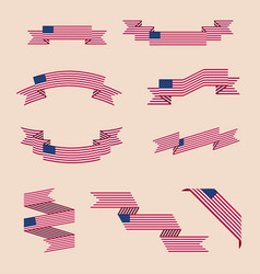 ribbons or banners in colors of usa flag vector image