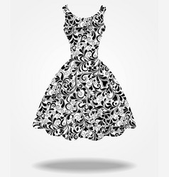 silhouette of isolated back dress vector image vector image