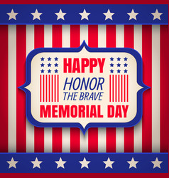 banner for memorial day vector image vector image