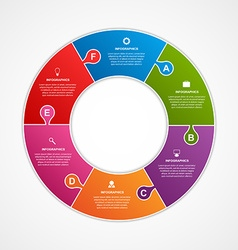 Circle puzzle options infographics template vector image