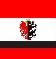 flag of kuyavian-pomeranian voivodeship in poland vector image