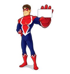 friendly superhero identity vector image vector image