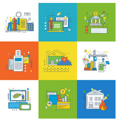 management and insurance banking development vector image vector image