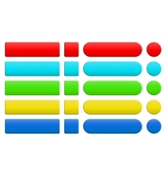 set of blank colorful internet buttons vector image