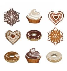 Sweets set for winter season vector image vector image