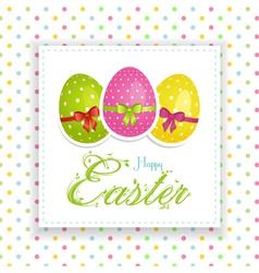 Easter egg panel vector image