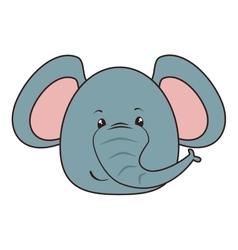 elephant animal cartoon vector image vector image