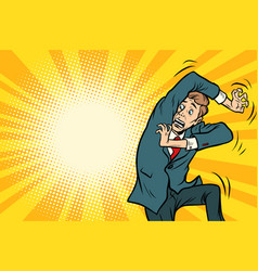 funny scared man vector image