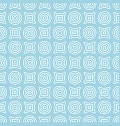 geometric round shape seamless pattern vector image vector image