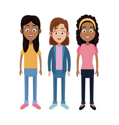 group girl daughter family vector image vector image
