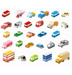 isometric flat cars vector image