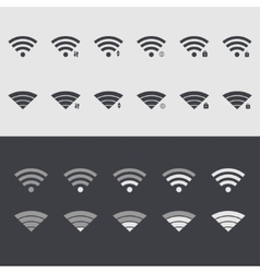 modern wi fi set icons Web element design vector image