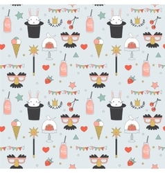 Children party seamless pattern vector image