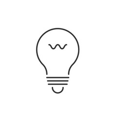 lightbulb outline icon vector image vector image