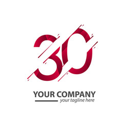 30 year anniversary your company template design vector
