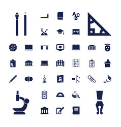 37 education icons vector image